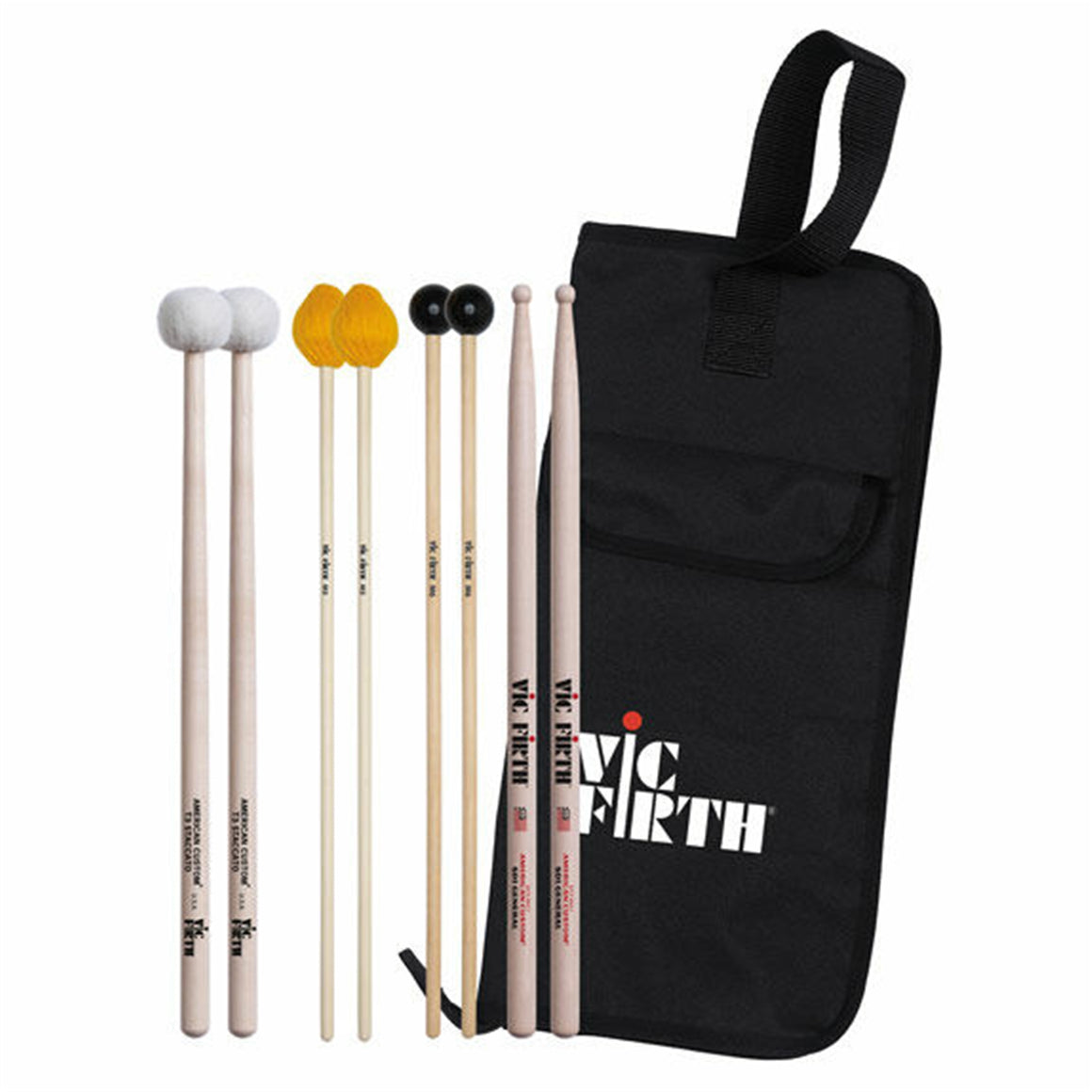 VIC FIRTH EP2A Intermediate Education Pack (includes SD1, M3, M6, T3, BSB)
