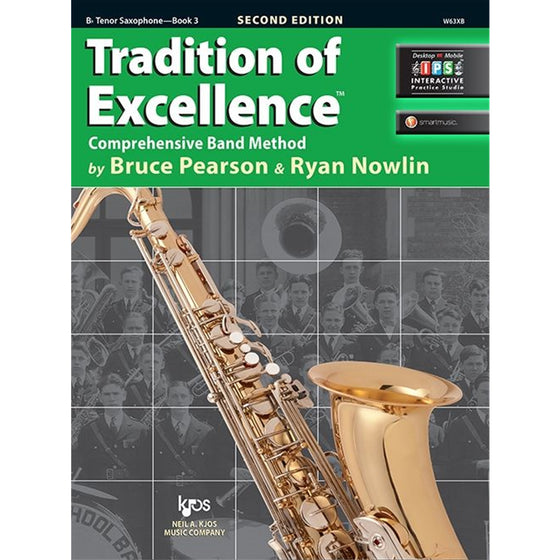 KJOS W63XB Tradition of Excellence Tenor Sax Book 3