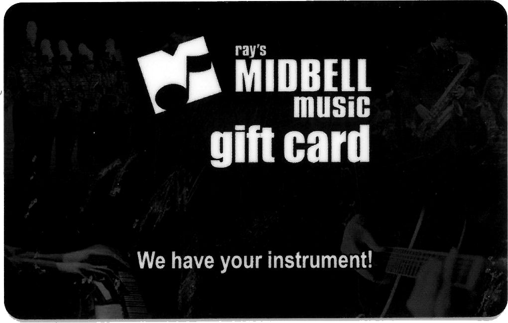 Midbell Music $50.00 Gift Card