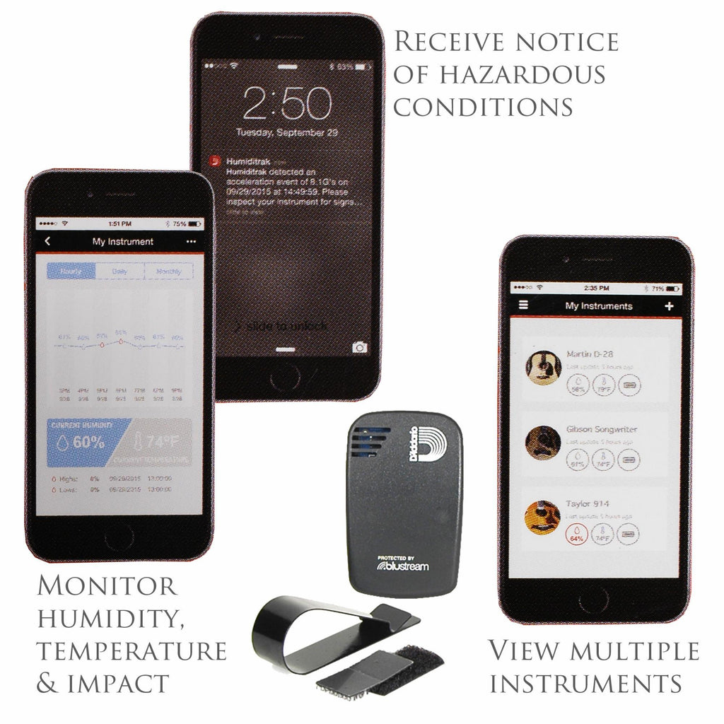 PLANET WAVES PWHTK01 Humiditrak - Bluetooth Humidity & Temperature Sensor