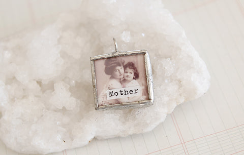 Mother Soldered Art Charm