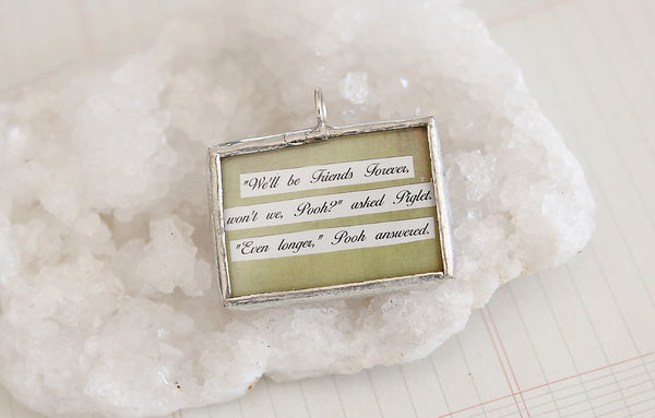 Forever Friends Soldered Art Charm