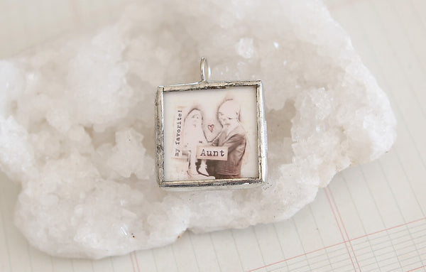 Aunt Soldered Art Charm