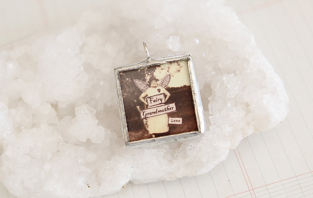 Grandma Soldered Art Charm
