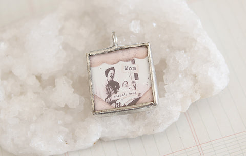 Mom Soldered Art Charm