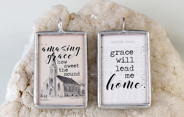Amazing Grace Soldered Art Charm