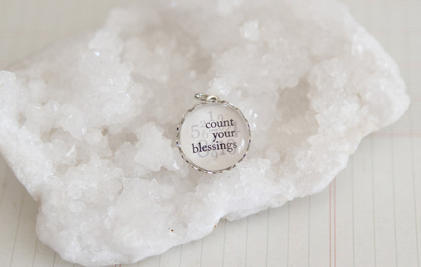 Count Your Blessings by Number Bubble Charm - Jennifer Dahl Designs