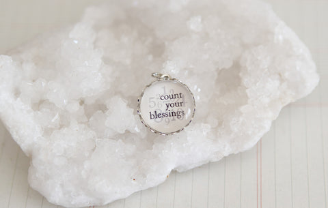 Count Your Blessings by Number Bubble Charm