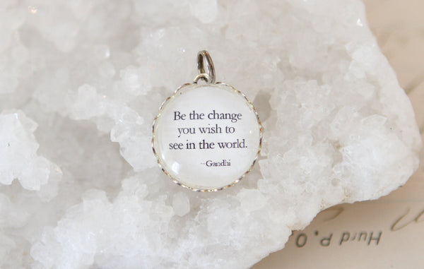 Be The Change Bubble Charm - Jennifer Dahl Designs