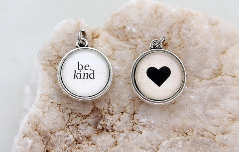 Be Kind Double Bubble Charm
