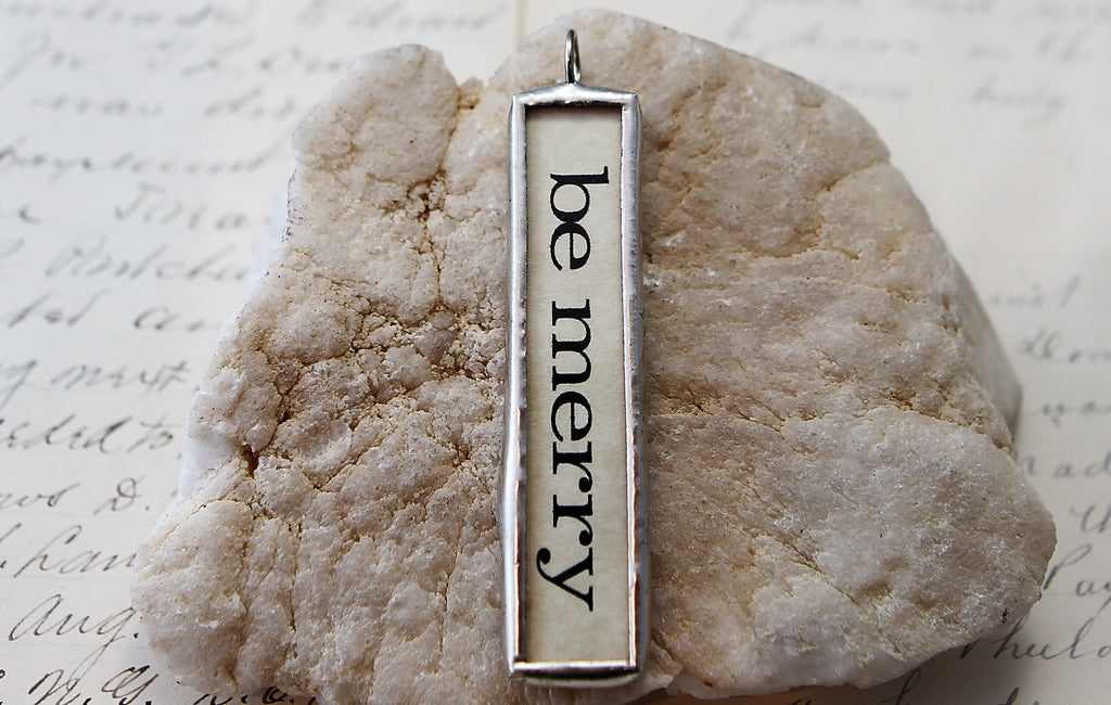 Be Merry long Soldered Art Charm Jewelry
