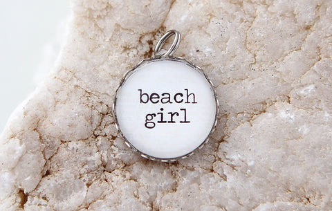 Beach Girl Bubble Charm