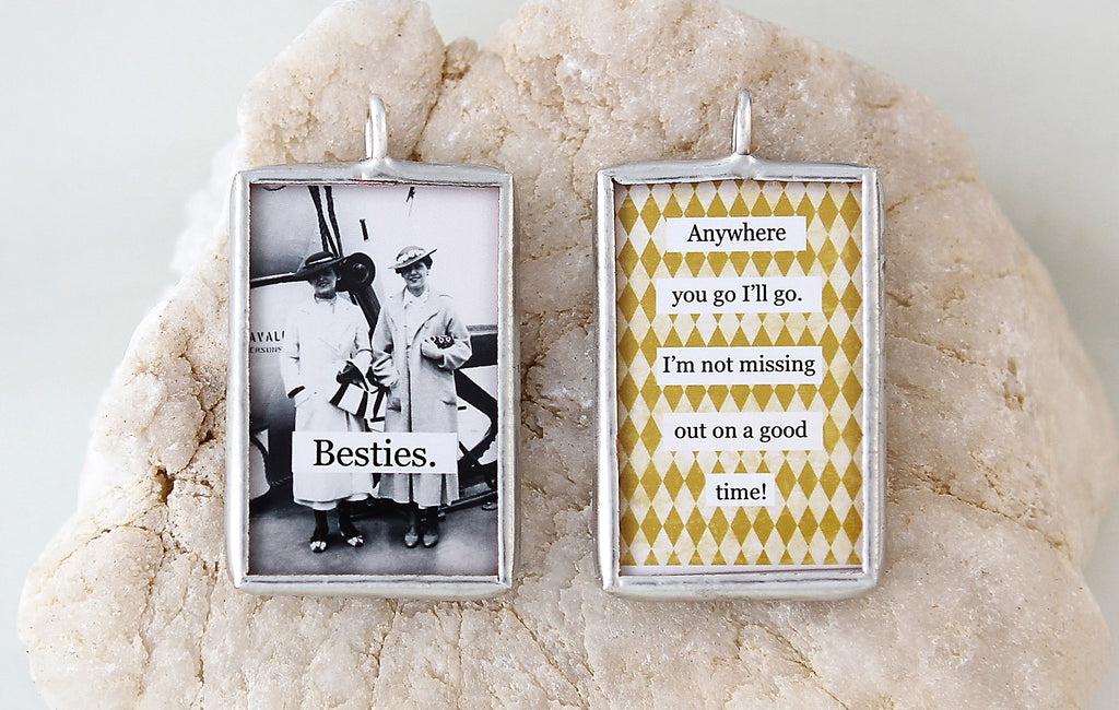 Besties Soldered Art Charm