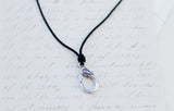 Black Cord Lobster Clasp Charm Catcher Necklace