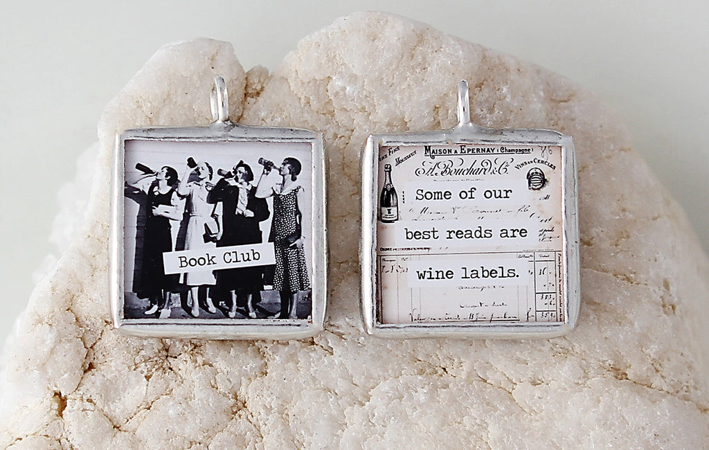Book Club Soldered Art Charm