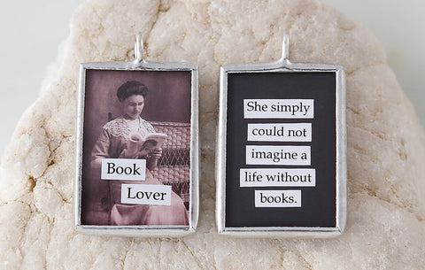 Book Lover Soldered Art Charm