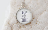 Books + Coffee Bubble Charm