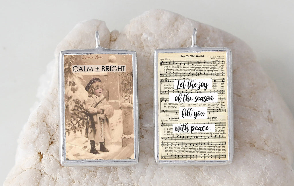 Calm and Bright Soldered Art Charm Jewelry