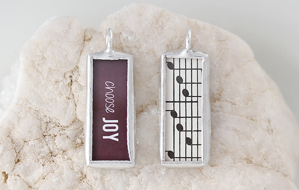 Choose Joy Soldered Art Charm