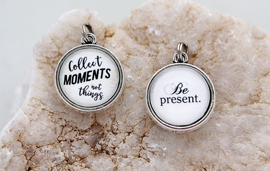 Collect Moments Not Things Double Bubble Charm