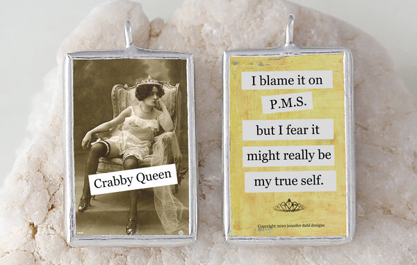Crabby Queen Soldered Art Charm
