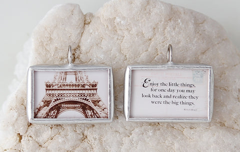 Enjoy The Little Things Soldered Art Charm