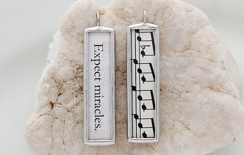 Expect Miracles Soldered Art Charm