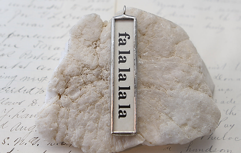 Fa la la long Soldered Art Charm Jewelry