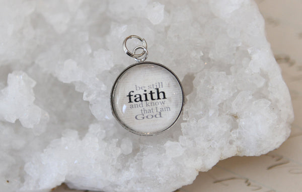 Faith Bubble Charm - Jennifer Dahl Designs