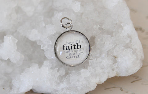 Faith Bubble Charm