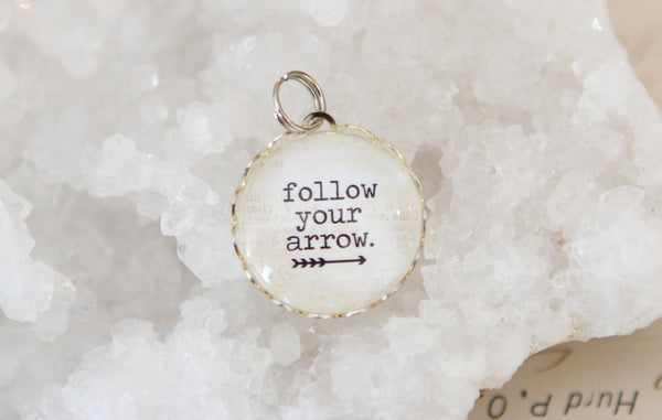 Follow Your Arrow Bubble Charm - Jennifer Dahl Designs