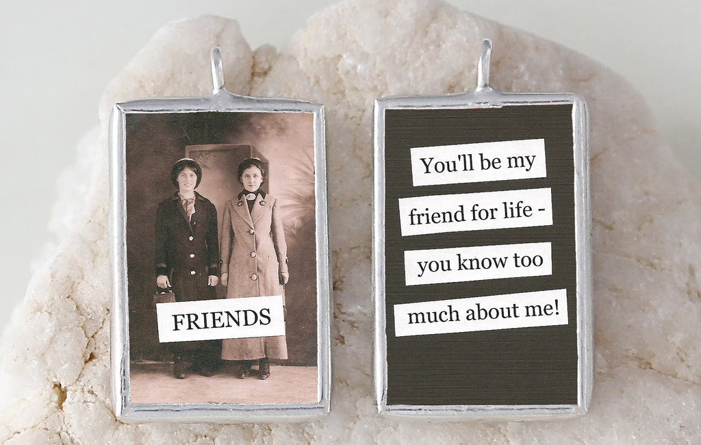 Friends Soldered Art Charm