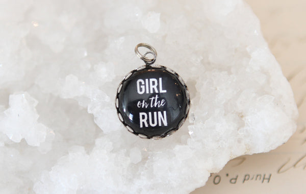 Girl On The Run Bubble Charm - Jennifer Dahl Designs