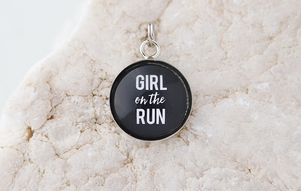 Girl On The Run Bubble Charm