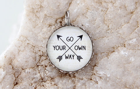 Go Your Own Way Bubble Charm