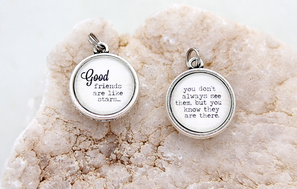 Good Friends Like Stars Double Bubble Charm