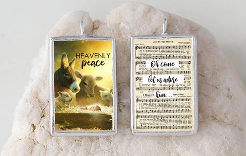 Heavenly Peace Soldered Art Charm Jewelry