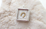 Shadowbox Gold Horseshoe Soldered Charm