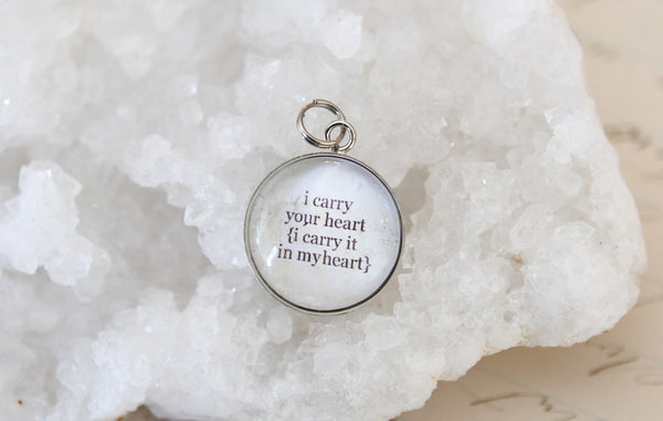 I Carry Your Heart Bubble Charm