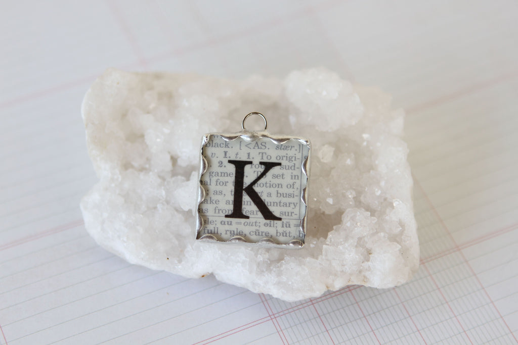 Scalloped Soldered Initial Charm