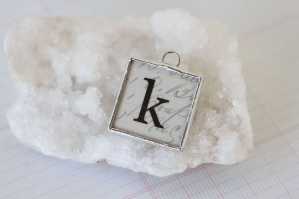 Scalloped Soldered Initial Charm - Jennifer Dahl Designs