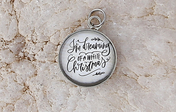 White Christmas Bubble Charm Jewelry