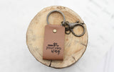 Go Your Own Way Engraved Leather Keychain