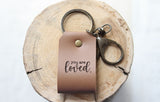 You Are Loved Engraved Leather Keychain