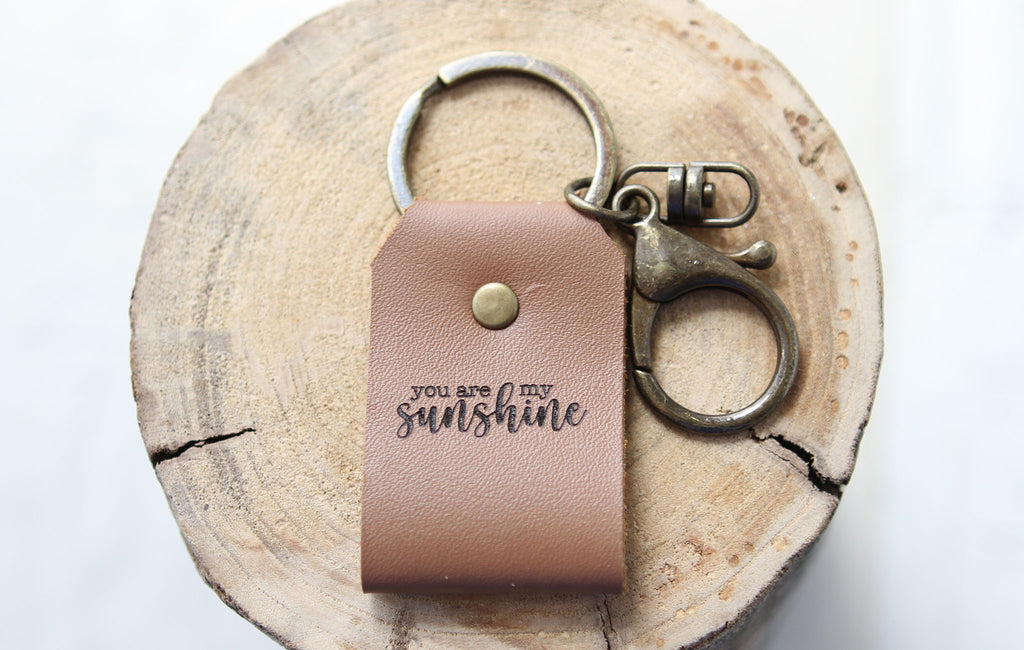 You Are My Sunshine Engraved Leather Bracelet