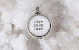 Live Love Lake Double Bubble Charm