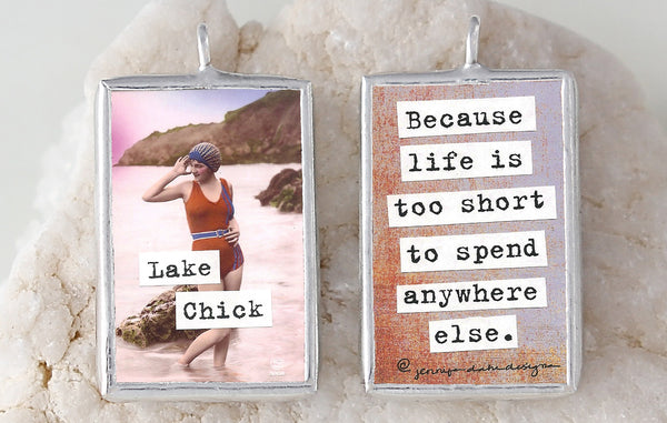 Lake Chick Soldered Art Charm