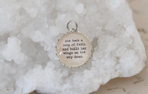 Leap of Faith Bubble Charm