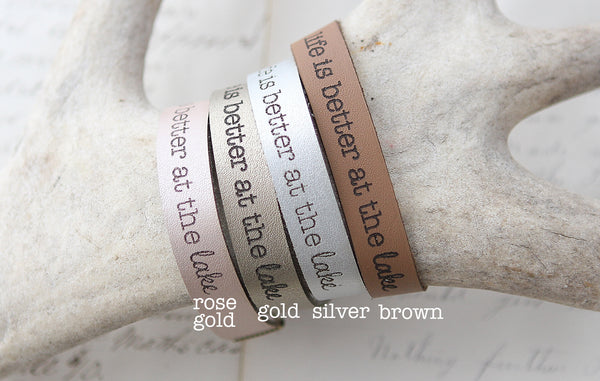 Do Not Fear Leather Bracelet