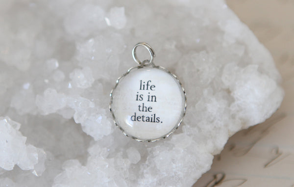 Life Is In The Details Bubble Charm - Jennifer Dahl Designs